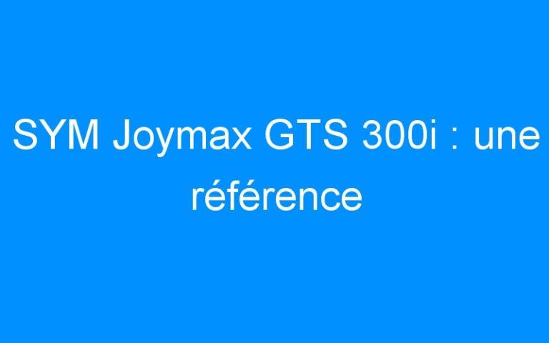 SYM Joymax GTS 300i : une référence