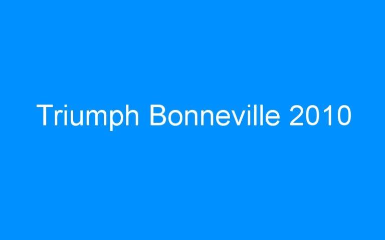Triumph Bonneville 2010