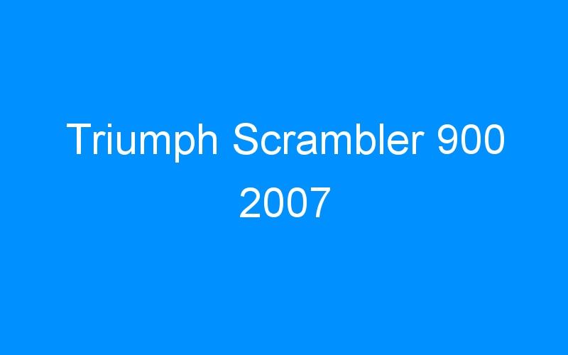 Triumph Scrambler 900 2007