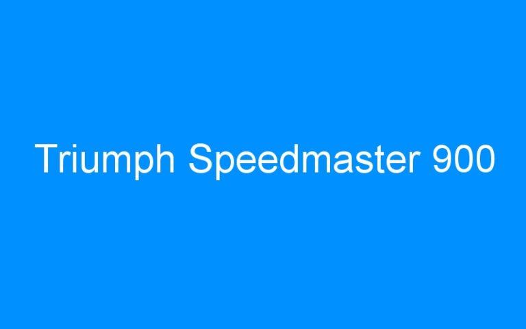 Triumph Speedmaster 900