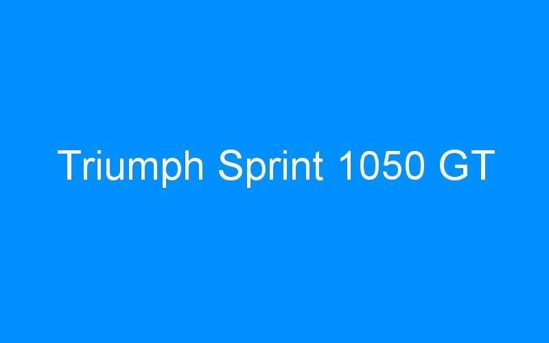 Triumph Sprint 1050 GT