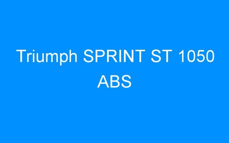 Triumph SPRINT ST 1050 ABS