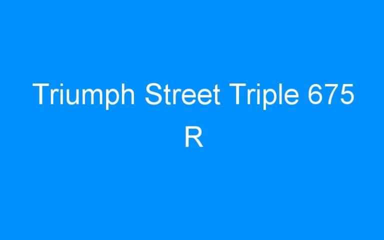 Triumph Street Triple 675 R
