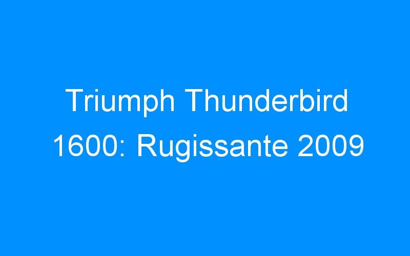 Triumph Thunderbird 1600: Rugissante 2009