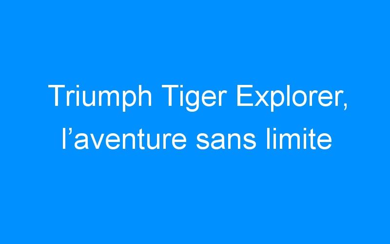 Triumph Tiger Explorer, l'aventure sans limite