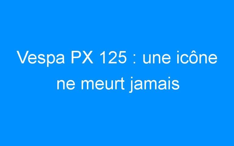 Vespa PX 125 : une icône ne meurt jamais
