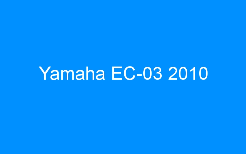 Yamaha EC-03 2010