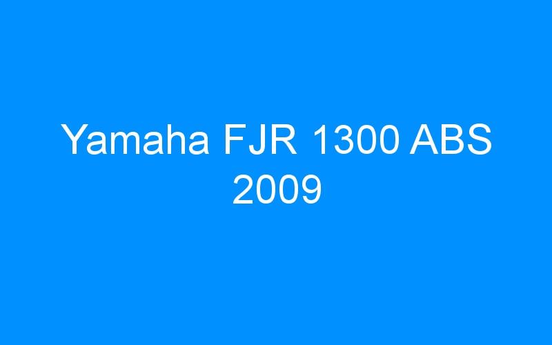 Yamaha FJR 1300 ABS 2009
