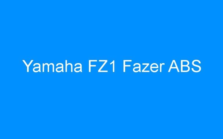 Yamaha FZ1 Fazer ABS