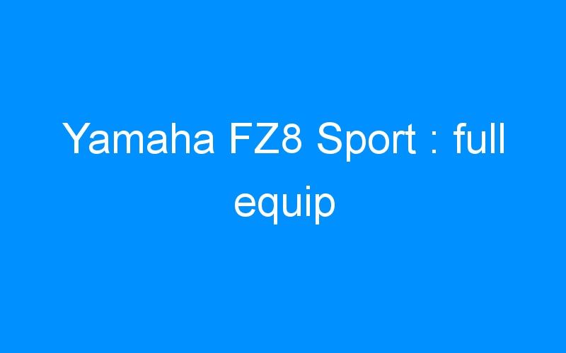 Yamaha FZ8 Sport: full equip