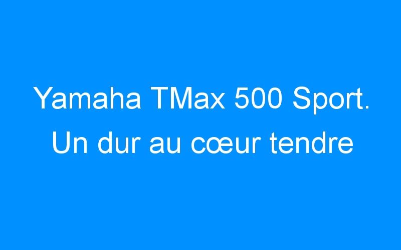 Yamaha TMax 500 Sport. Un dur au cœur tendre