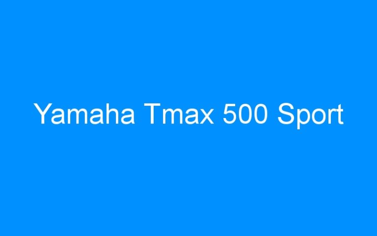 Yamaha Tmax 500 Sport