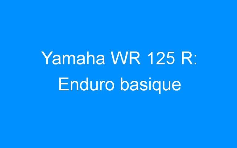 Yamaha WR 125 R: Enduro basique