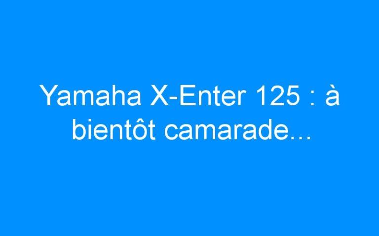 Yamaha X-Enter 125 : à bientôt camarade…