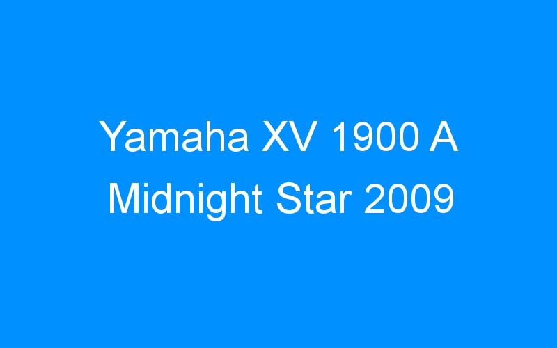 Yamaha XV 1900 A Midnight Star 2009