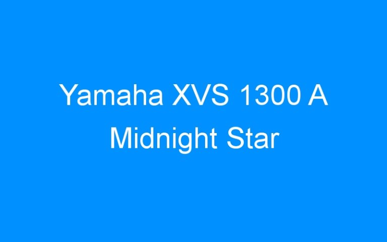 Yamaha XVS 1300 A Midnight Star