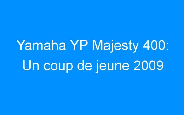 Yamaha YP Majesty 400: Un coup de jeune 2009
