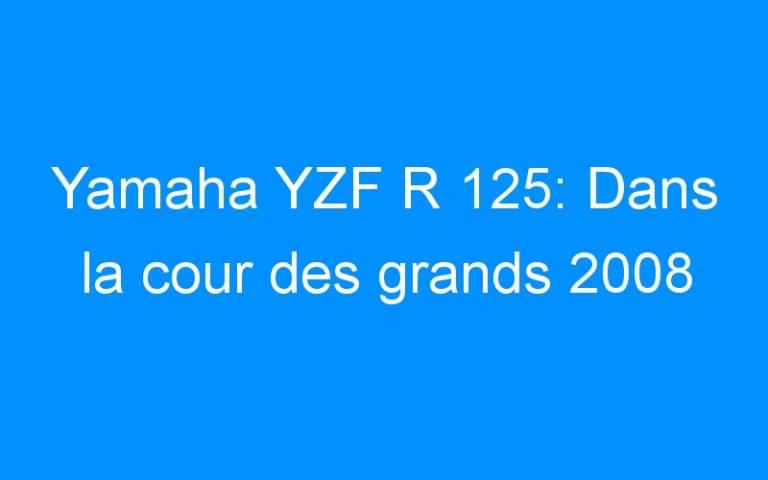 Yamaha YZF R 125: Dans la cour des grands 2008