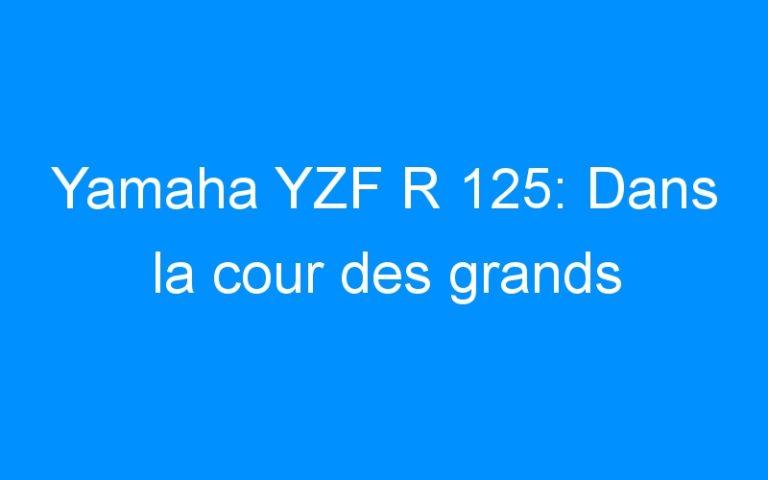 Yamaha YZF R 125: Dans la cour des grands